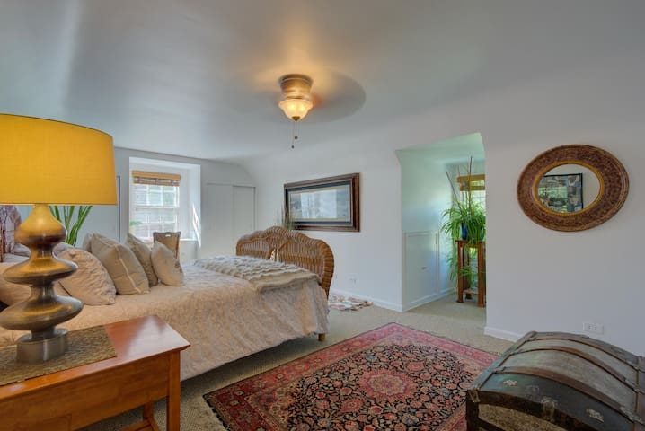 The house was redone, so now there are two suite bedrooms. The second is very spacious with three walk-in closets!  Enjoy the magnificence of waking up in a plush, ample bedroom with light pouring in or use the wood blinds to sleep in.