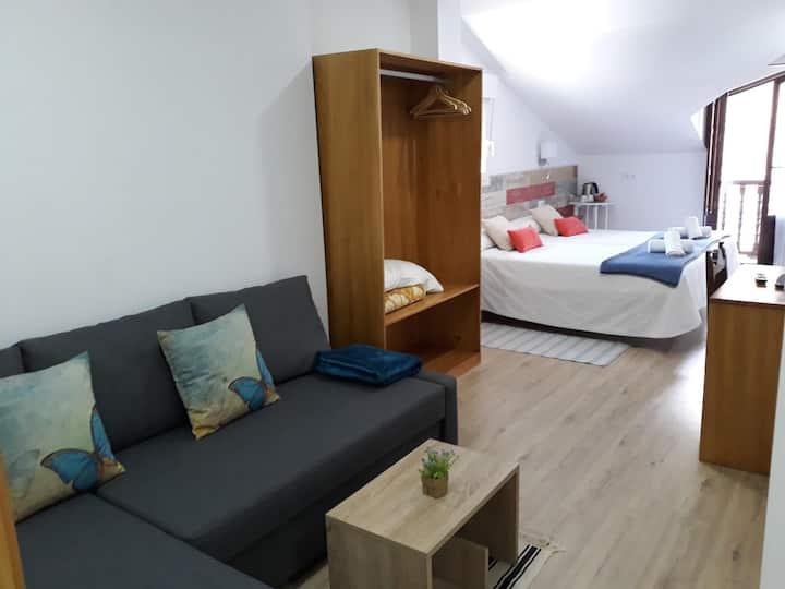 Habitación Estándar 2 camas individuales y sofá