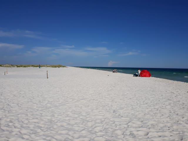 30 ft. RV near beautiful white sand beach