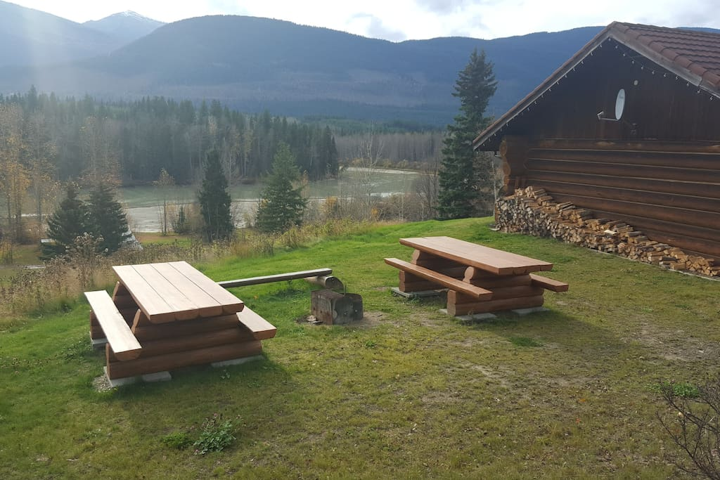 View from Cabin and Fire pit