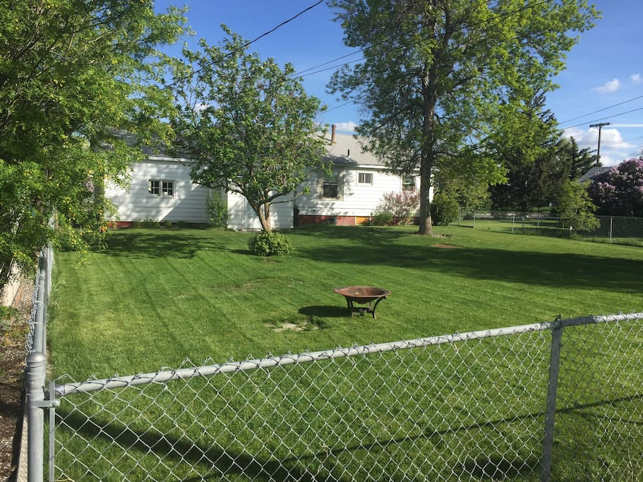 Our spacious backyard, fully fenced & gated