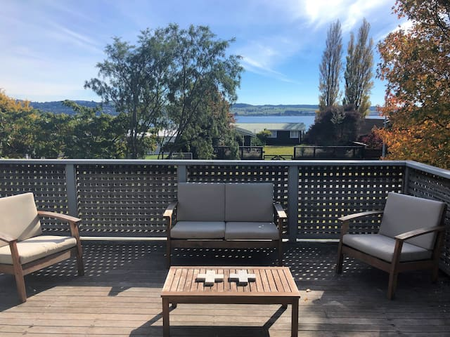 Fire up the BBQ and enjoy the lake views from the deck