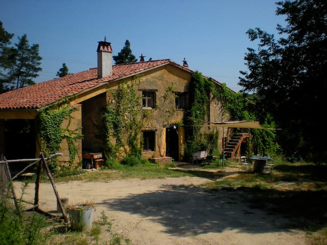 Typical Catalan farmhouse hidden in the forest 15 minutes from the Gualba train station