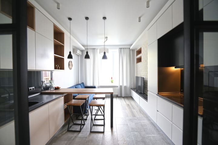 A light, cozy apartment (46 sq m) for rest