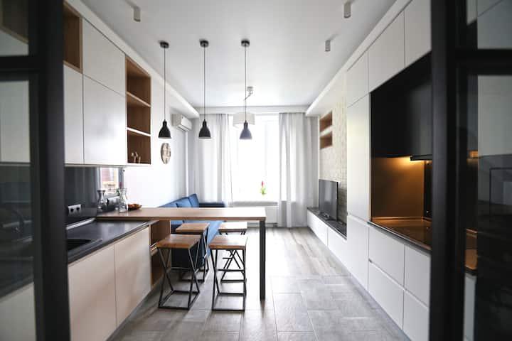 A light, cozy apartment (46 sq m) for rest