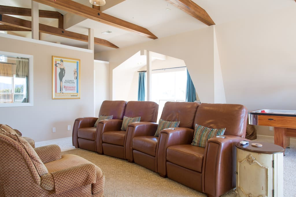 Comfortable recliner chairs in living room
