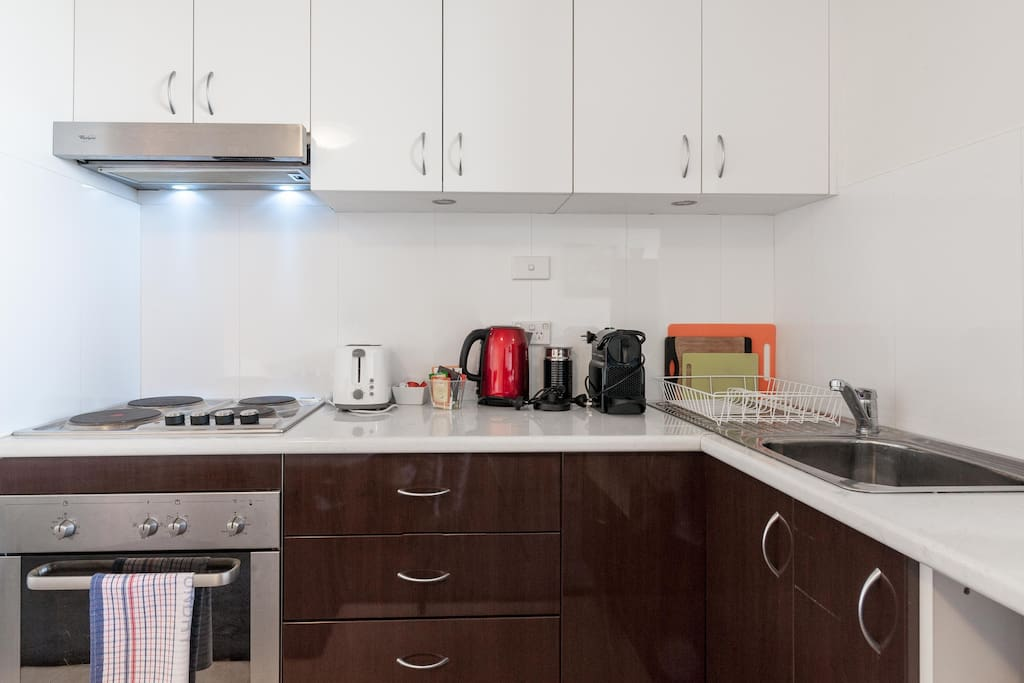 Equipped Kitchen with Coffee Maker