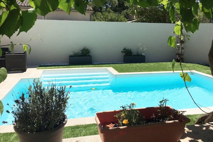 Belle villa Provençale pour vacances en famille.