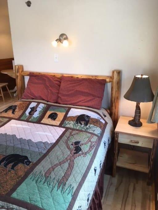 Queen bed & nightstand
