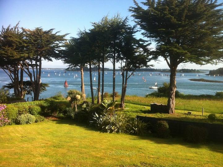 Chambre Govehin avec vue sur Le Golfe de Morbihan