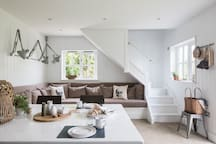 Open-plan living/dining space