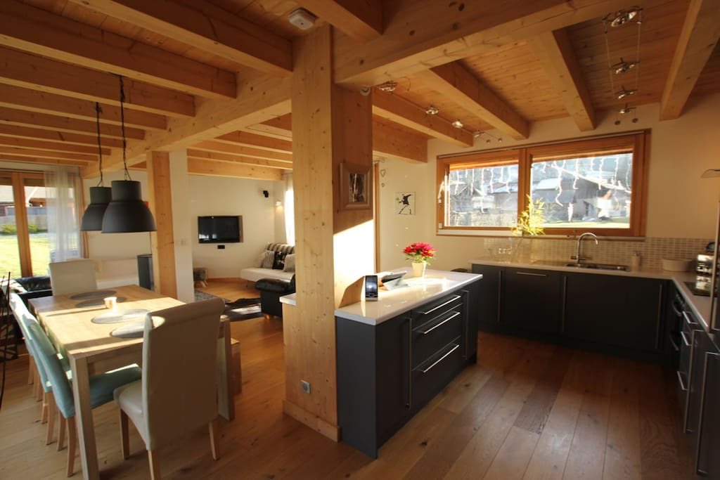 Open Plan Kitchen / Dining Area.