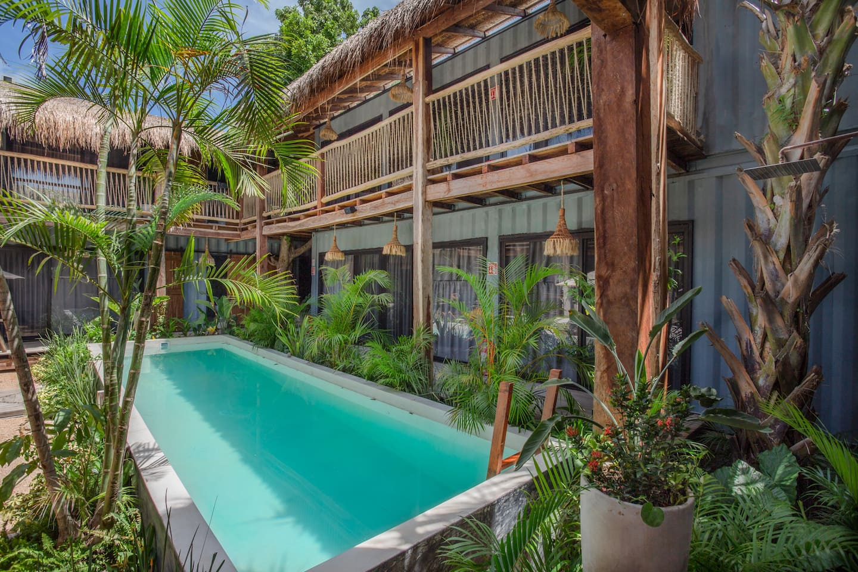 tulum airbnbs: rustic hostel decor