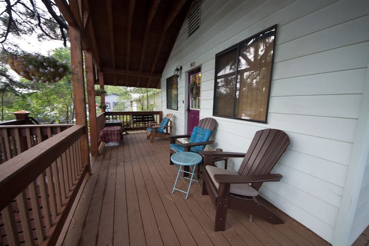 Enjoy a coffee or tea on our porch