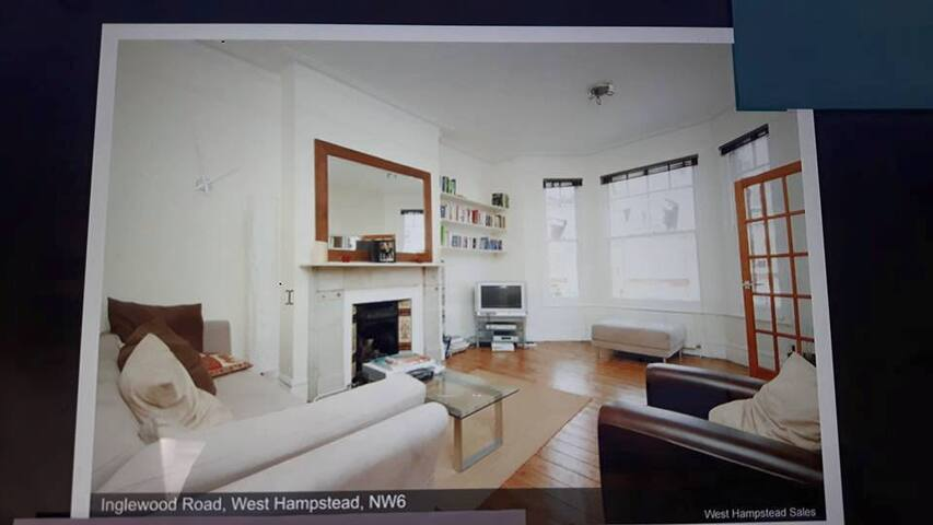 Spacious Double Bedroom Flat, West Hampstead NW6 - Londýn - Byt