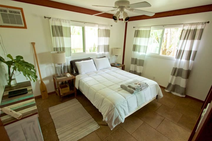 Room in North Shore Beach House, steps to the sand - Waialua - Casa