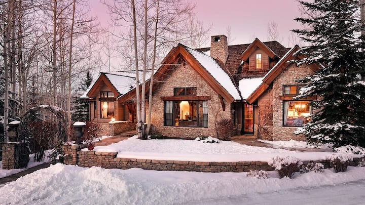 Ski directly into this beautiful mountain estate by Aspen Highlands