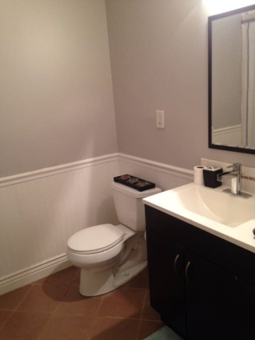 Private bathroom with tub!