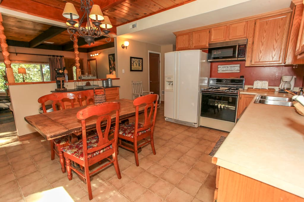 Open & Equipped Kitchen & Dining Area