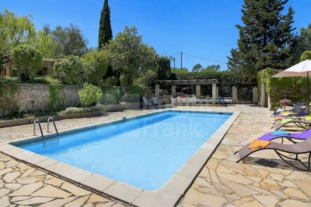 Charming small house w/big pool-25 min from Cannes - Tourrettes - House