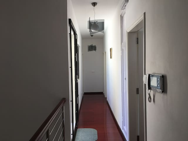 Upstairs corridor and intercom/electric gate remote opener