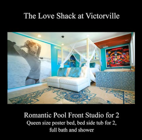 The Love Shack at Victorville. Pool Front Studio