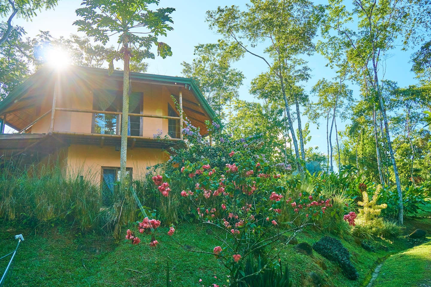 Perched on the hilltop overlooking the union of the Ballena and Uvita rivers.