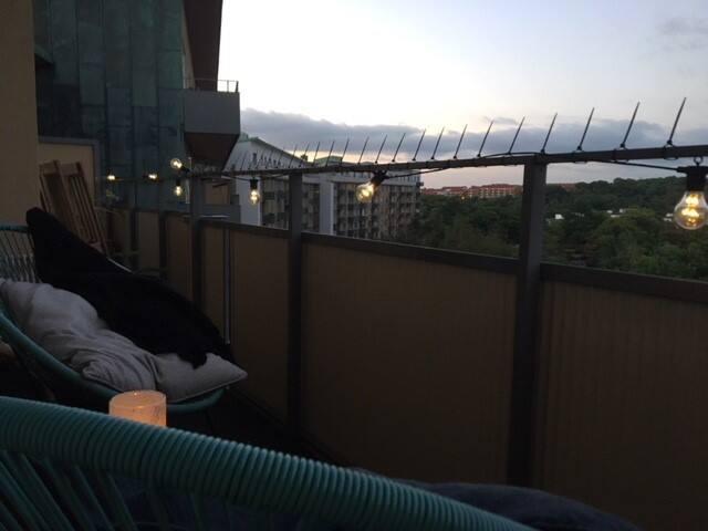 Kväll på balkongen