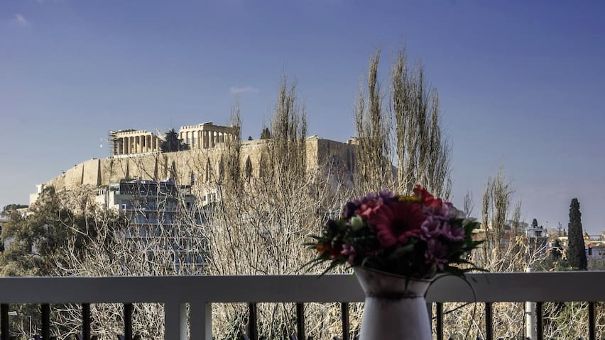 Best Acropolis apt. view in the center of Athens - Athina - Apartemen