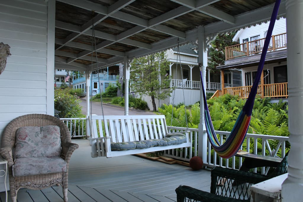 Porch lounging area