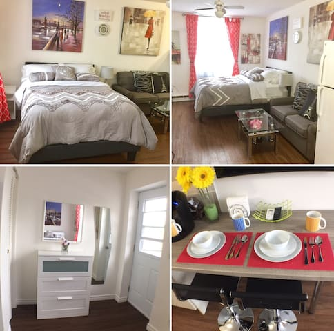 Beautiful Studio Close to Downtown Private Parking