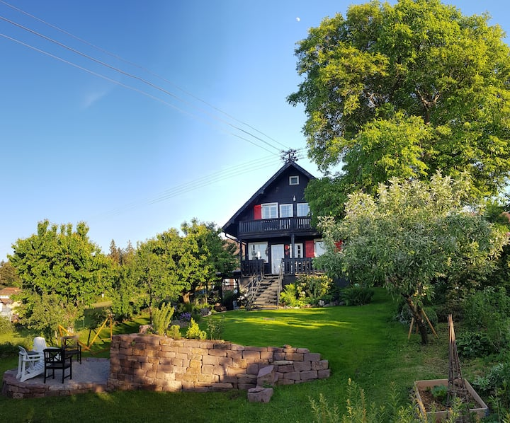 Black Forest wooden House with garden