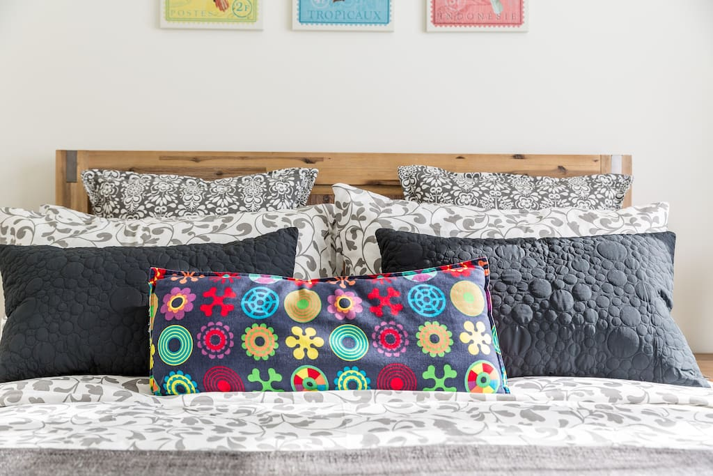 Comfortable bed with wool underlay for colder months