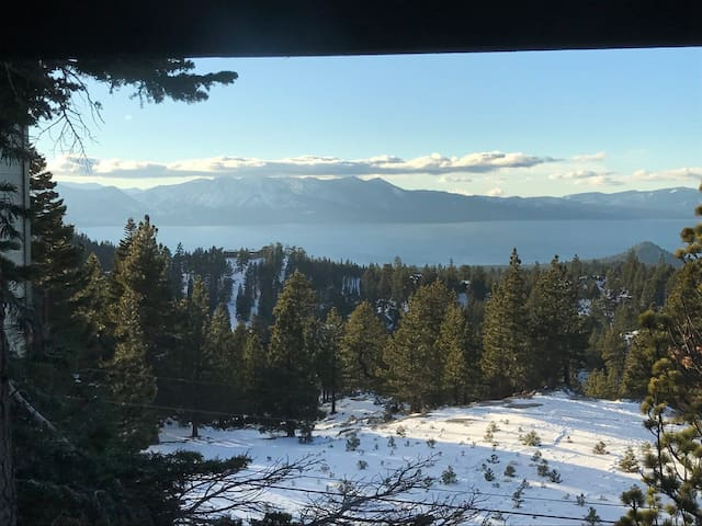 View from the living room and master bedroom of Lake Tahoe