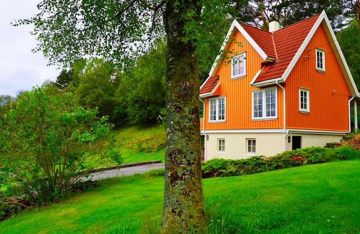 Beautiful house near Sveio centre with unique view
