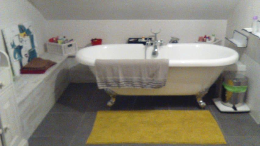 Chambre & salle de bains dans maison avec jardin - Moulins-sur-Yèvre - Rumah