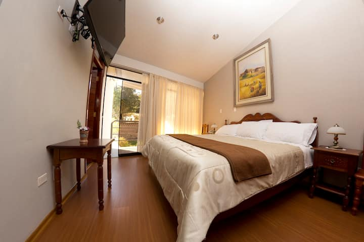 Inti Ñan Hotel - Queen size bedroom