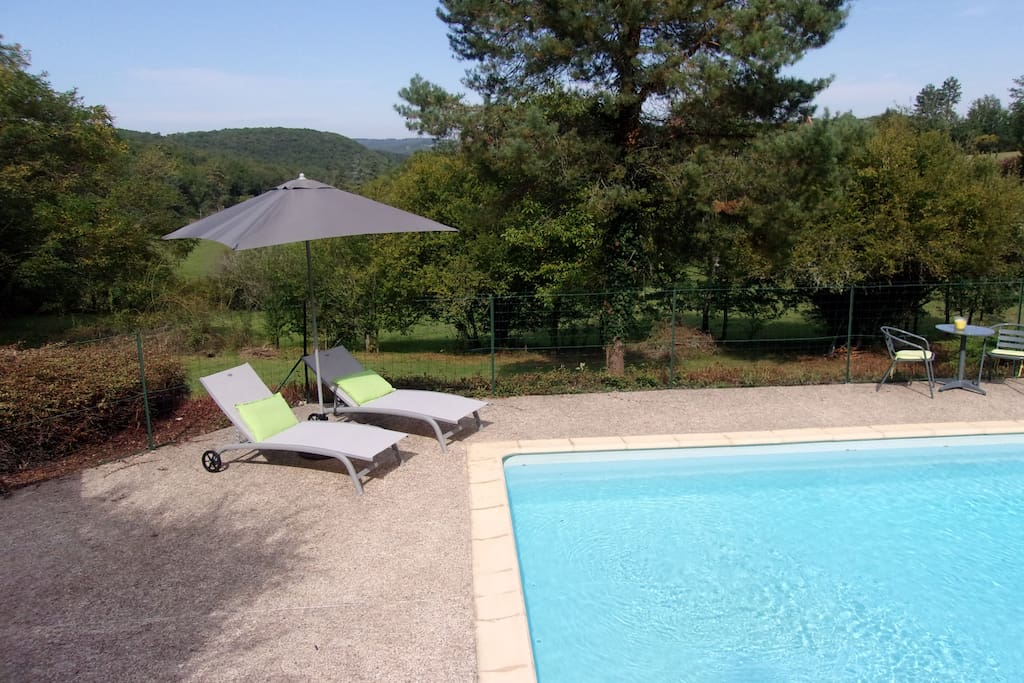 Sunny pool and terrace