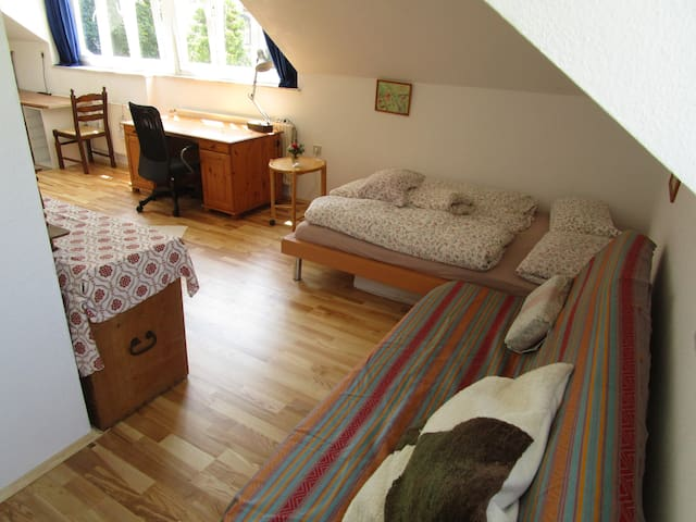 Helles Dachzimmer+Küche in Stadt-Kultur-Natur