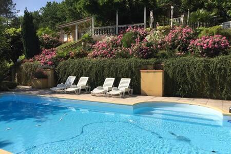 Gîte avec piscine privée. Cadre d'exception