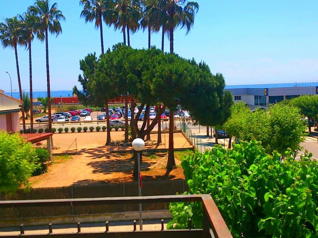 Apartment 20 kms BCN in front of the beach and train