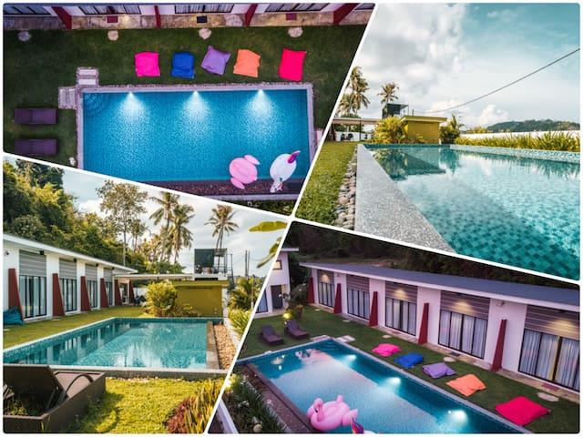 Hornbill Retreat | 4 Rooms | Pool&Paddy | Chenang