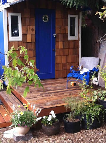 Tiny house blue bird caravan cozy and private