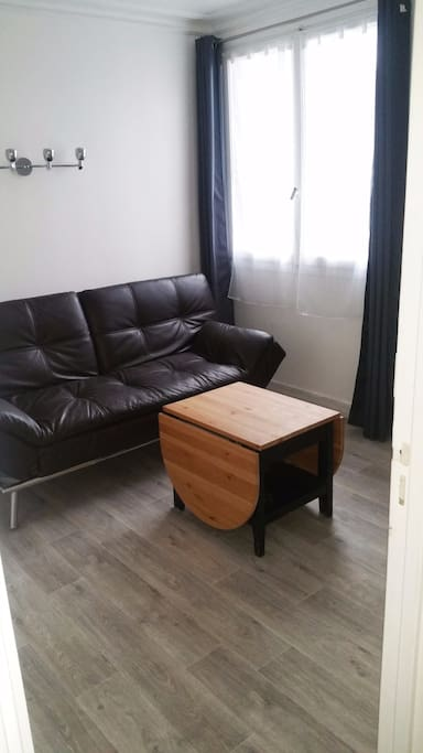 Room with convertible sofa and folded bed if needed