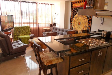 Luxury 2 Bedroom Lake View In-Town Apartment - Guatape - 公寓