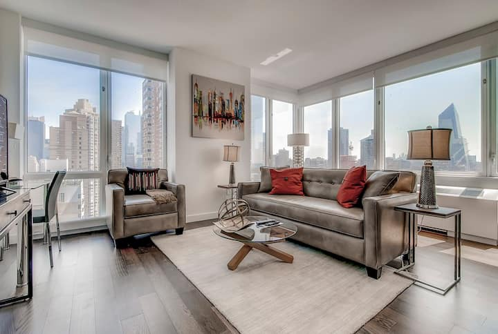 Private NYC 1BR | Upscale Building | Washer/D |GLS