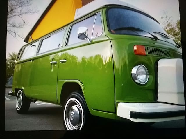 VW Bulli T2 Westfalia, Retro, Old