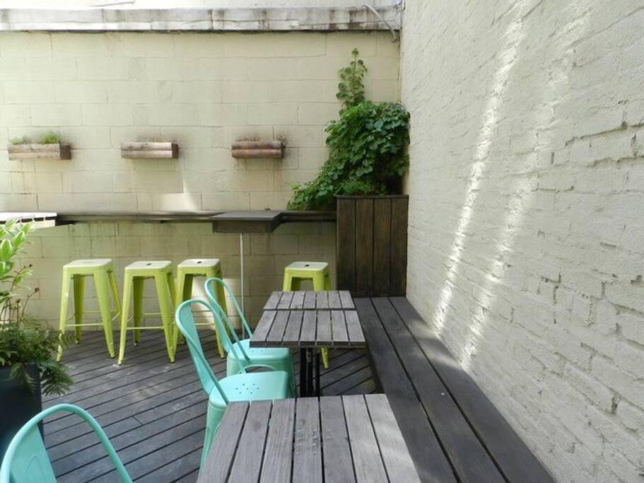 the bakery's patio