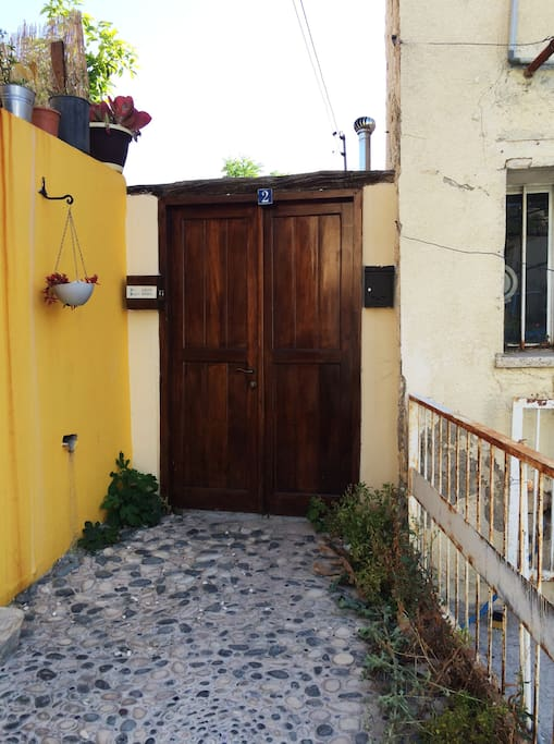 Entry to the courtyard house