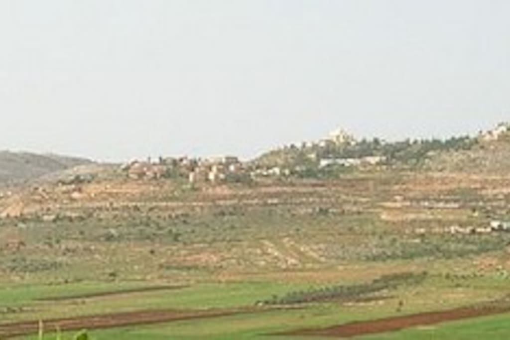 Modern Shilo set on a set of hills over looking the Biblical Shilo Valley.
